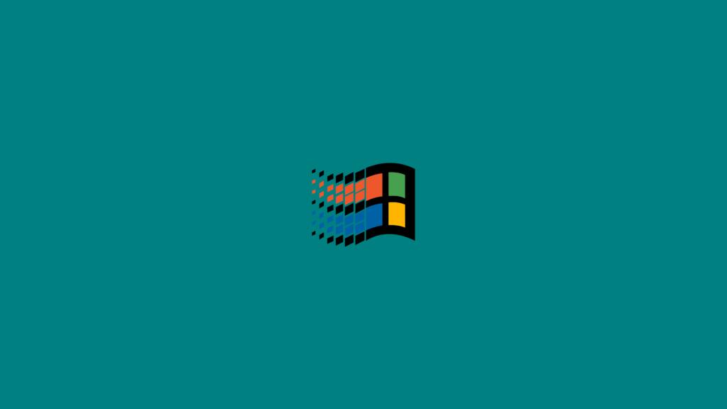 logo windows retro