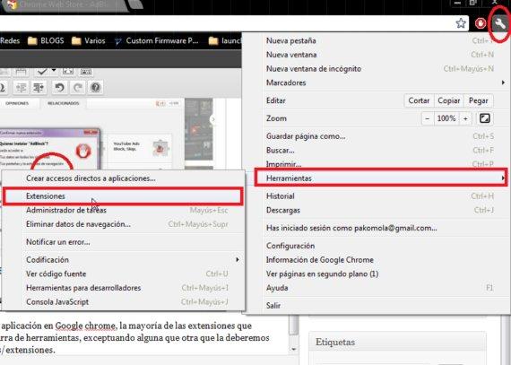 instalar extensiones google chrome