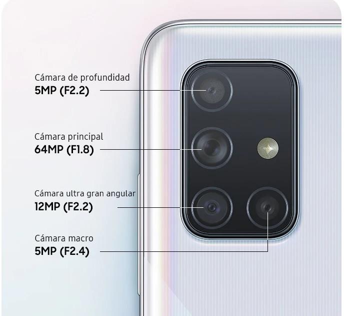 Camaras Samsung Galaxy A71