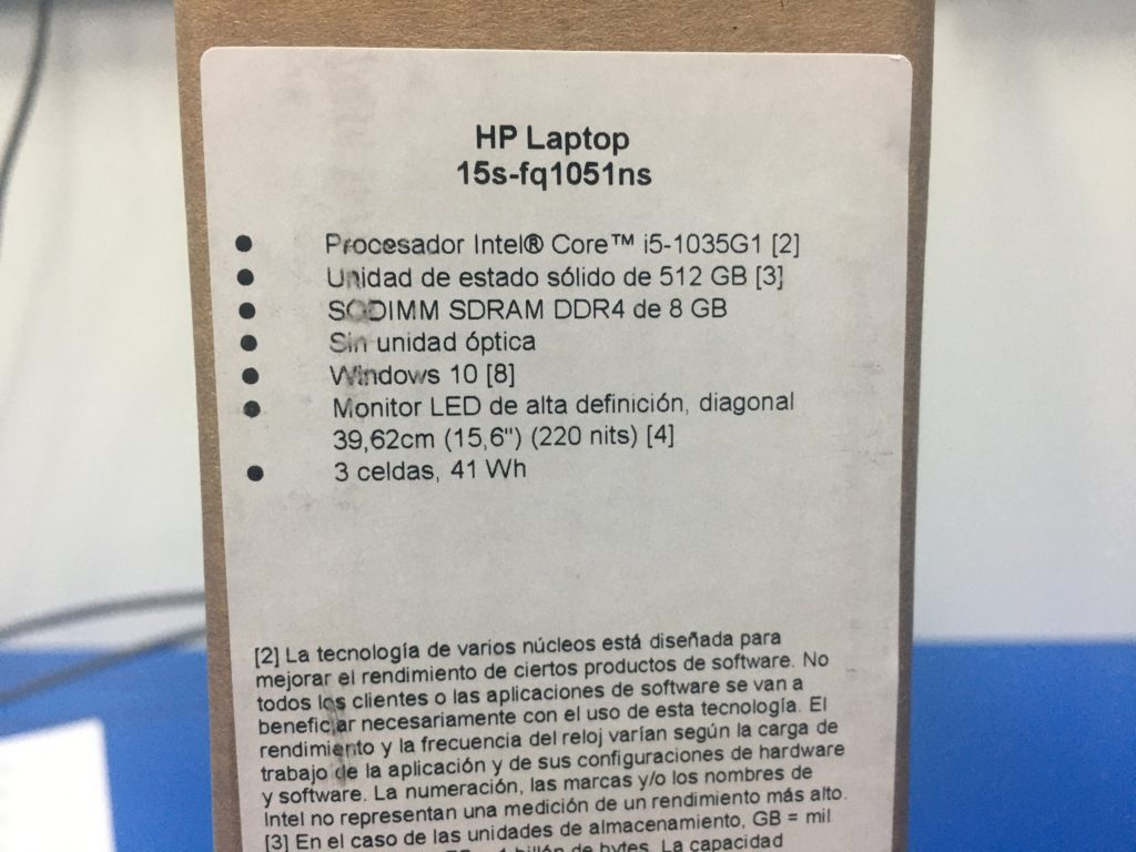 Detalles HP 15s