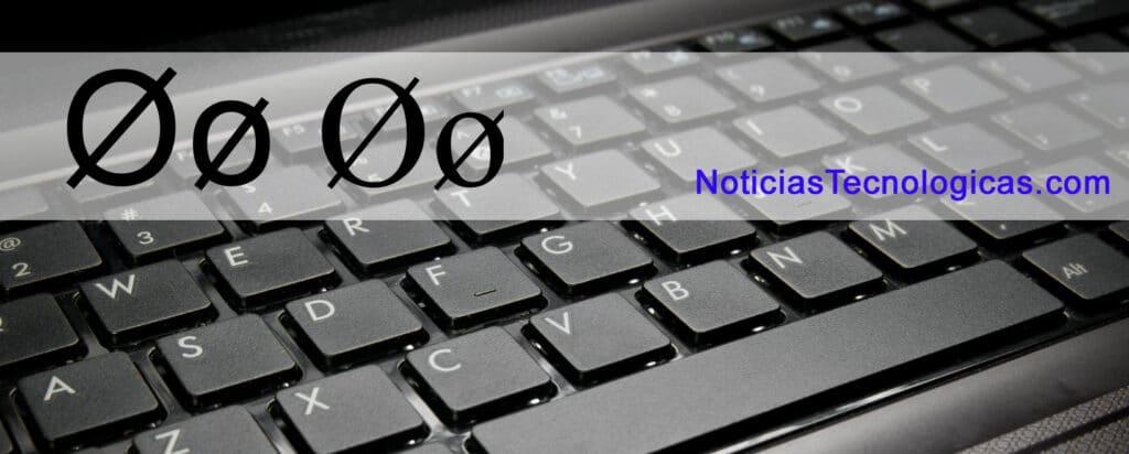 escribir el símbolo diametro en pc